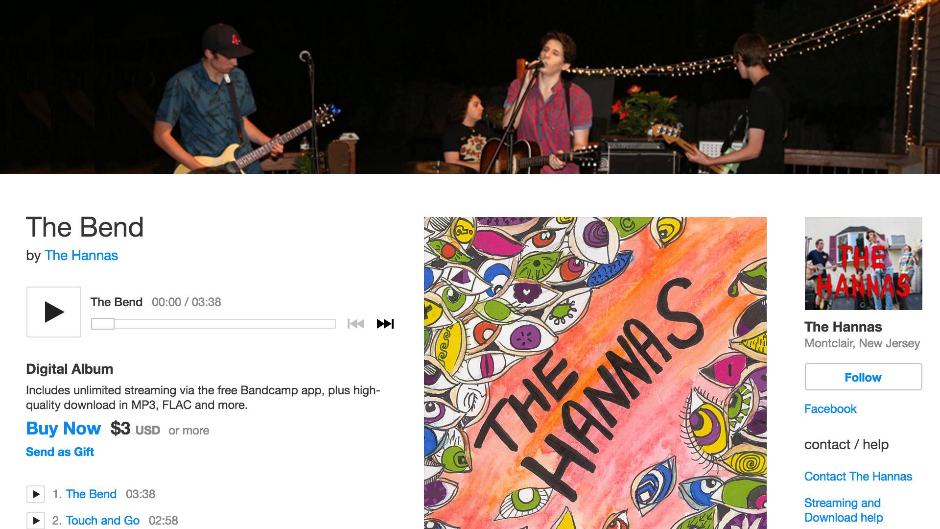 thehannas.bandcamp.com
