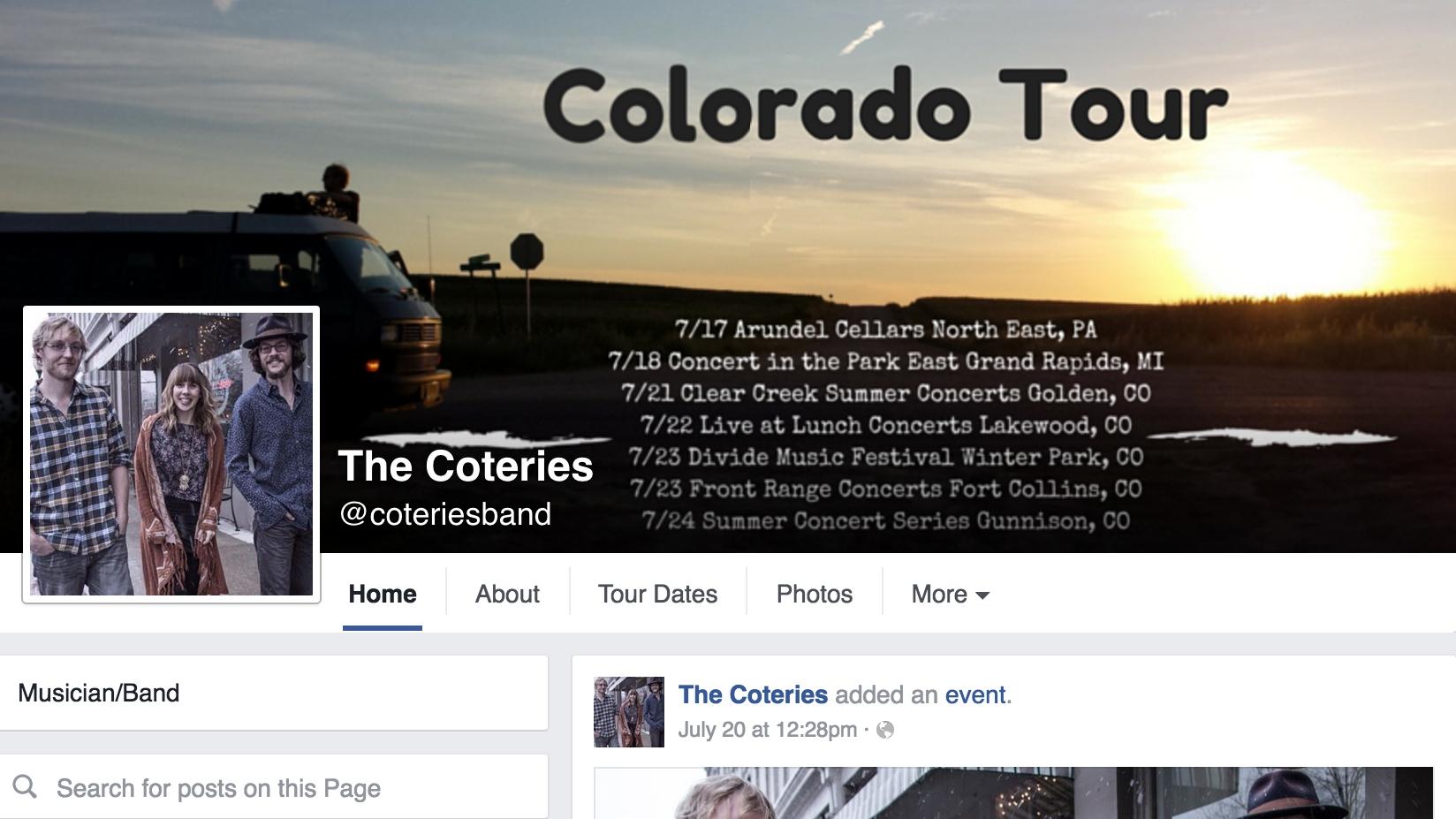 www.facebook.com/coteriesband