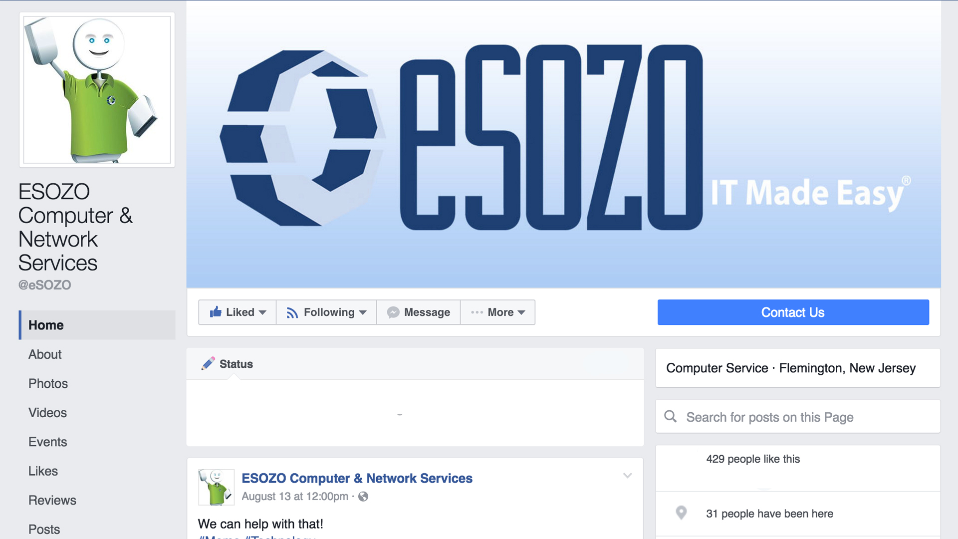 https://www.facebook.com/eSOZO/