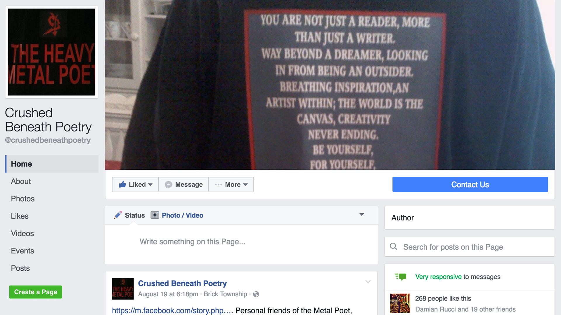 www.facebook.com/crushedbeneathpoetry