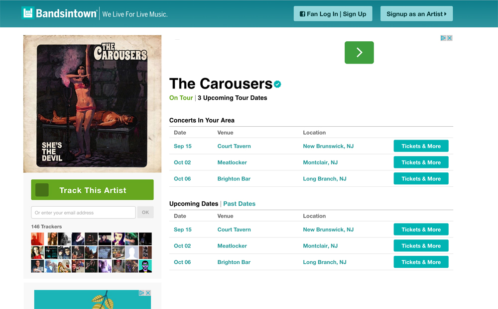 bandsintown.com/TheCarousers