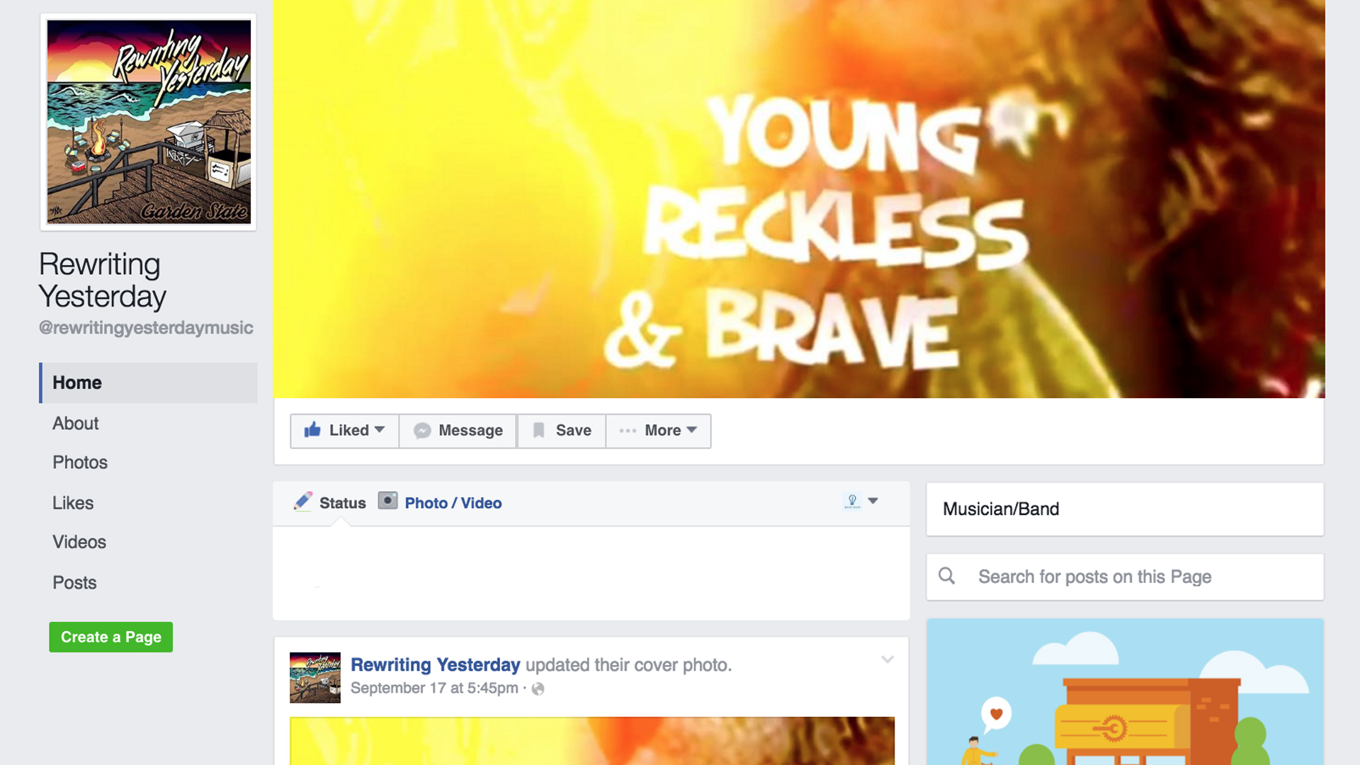 facebook.com/rewritingyesterdaymusic