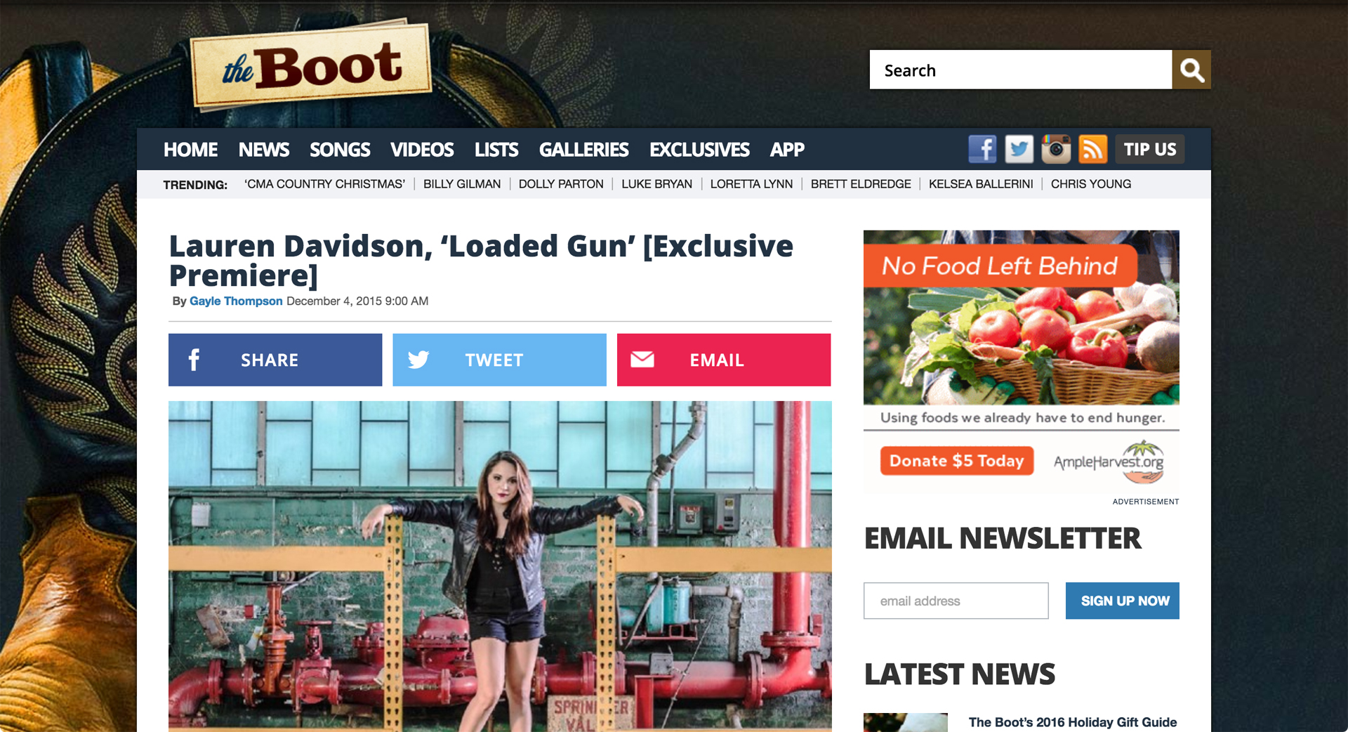 http://theboot.com/lauren-davidson-loaded-gun/