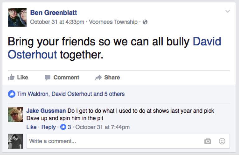 "A screenshot from Ben Greenblatt's ""Wilt"" Release show that is still relevant today."