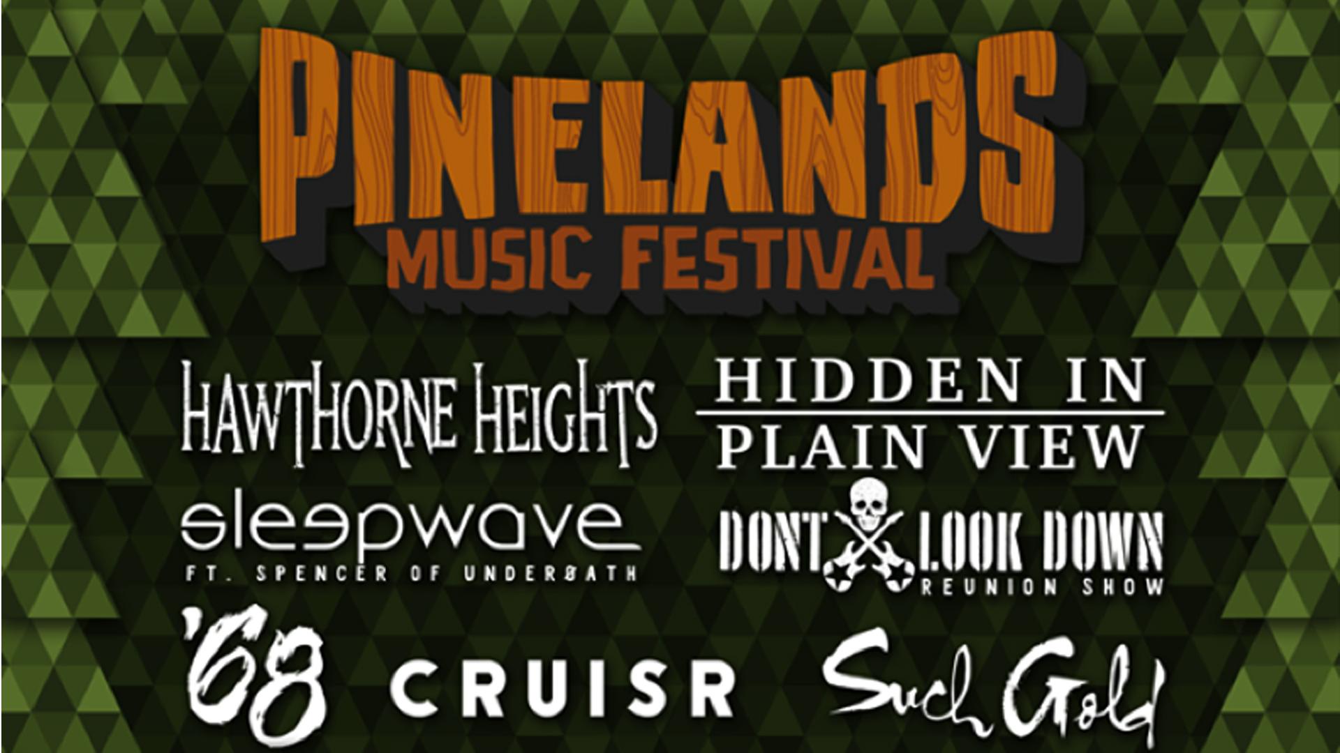 Pinelands Music Festival 2016 (Oct. 9, 2016)   Alternative Rock, Post Punk, Post Rock, Indie Pop  Millville, NJ  Posted Sept. 15th, 2016