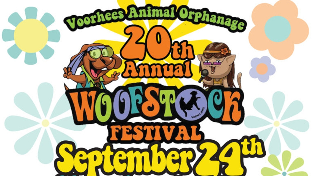 Voorhees Animal Orphanage 20th Annual Woofstock Festival (Sept. 24, 2016)   Festival, animal adoption    Voorhees, NJ   Posted Sept. 23, 2016