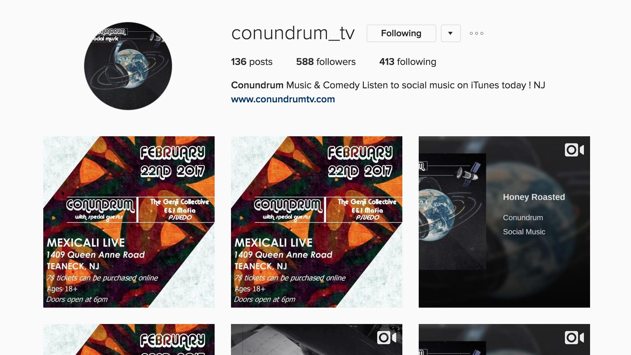 Instagram.com/conundrum_tv/