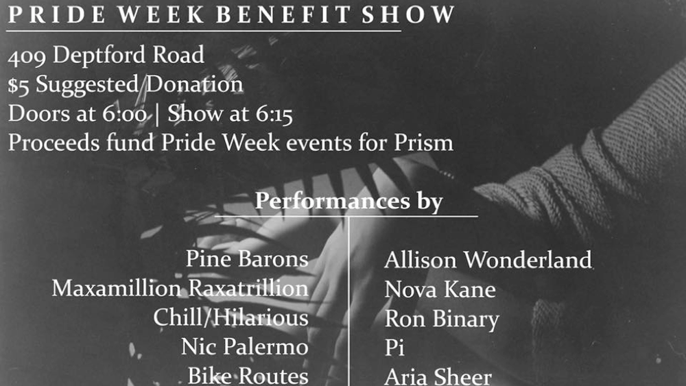PRIDE WEEK BENEFIT SHOW (March 3, 2017)   Drag, Music, LGBTQ+    Glassboro, NJ   Posted Monday, February 27, 2017