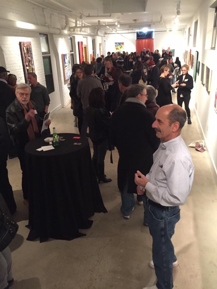 """[W]e had an excellent turn out, over 155 people in attendance.  People had a chance to chat with artists individually about their work and process."" -- Aida Jones, artist"