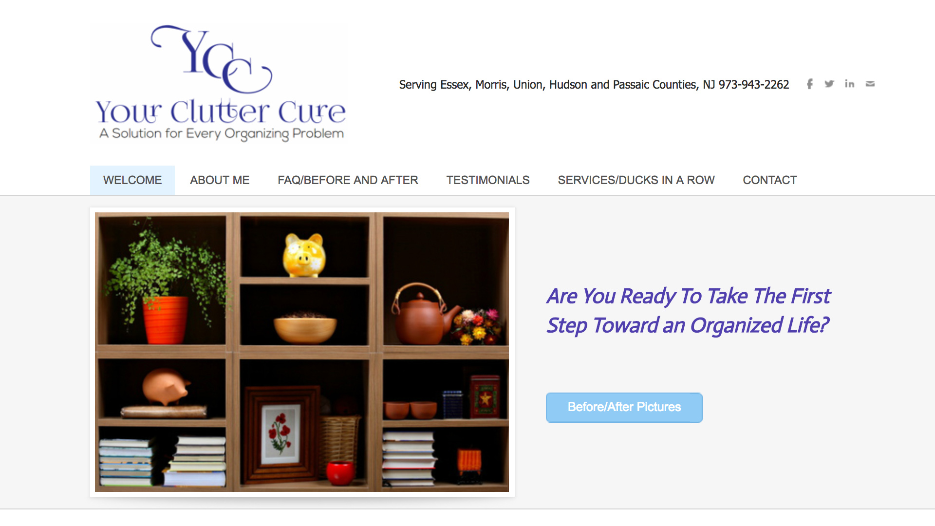 CLAUDIA SANDERS, YOUR CLUTTER CURE     West Orange, NJ   Home organizing, office organizing, decluttering   Read more…