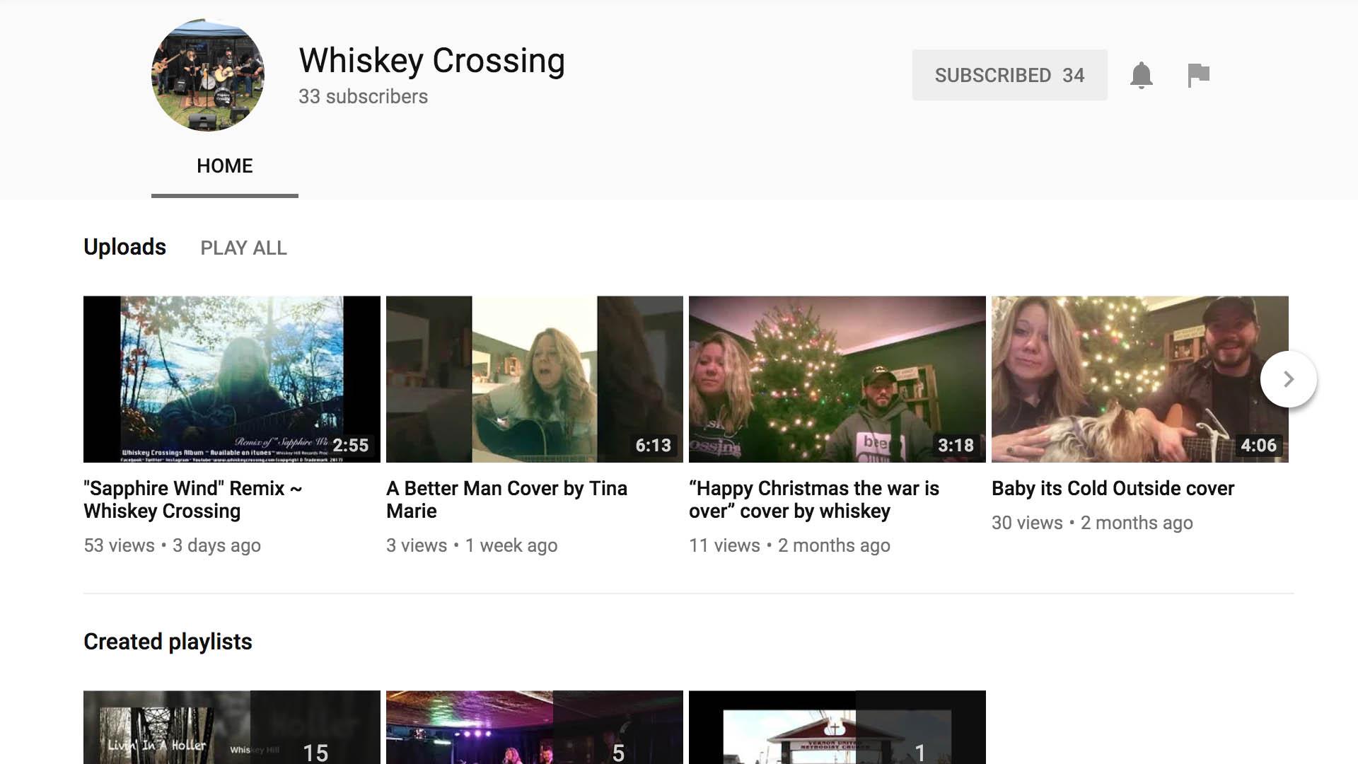 YouTube @whiskeycrossing