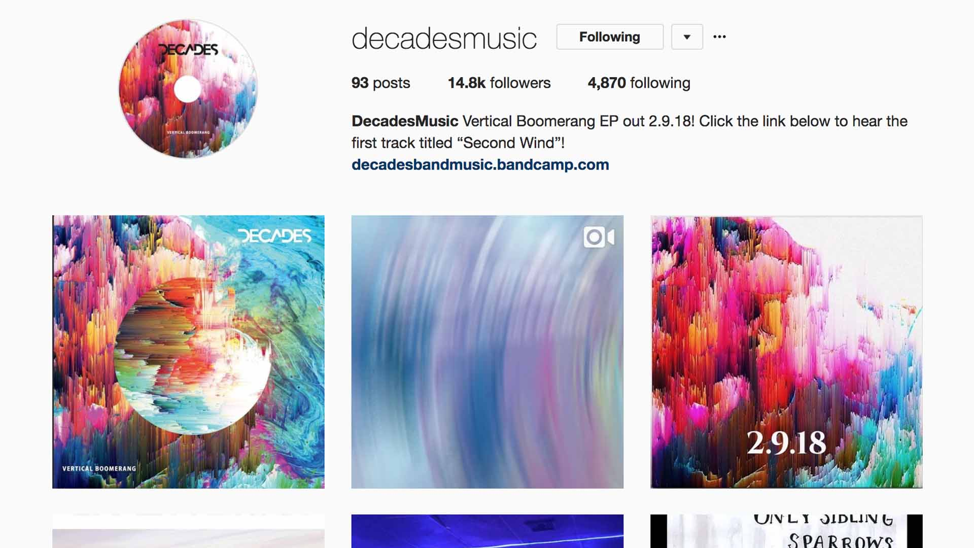 https://www.instagram.com/DecadesMusic/