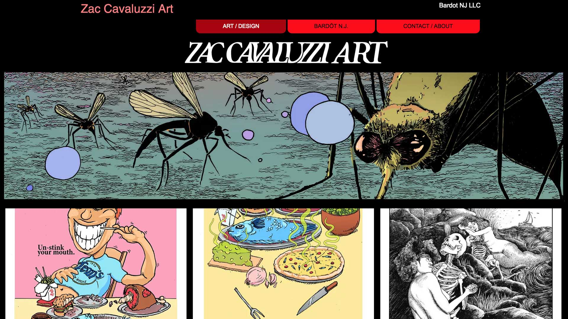 Zachary Cavaluzzi   (Middletown, Monmouth County)   ** See   interview   Multi-artist, comic book writer/illustrator