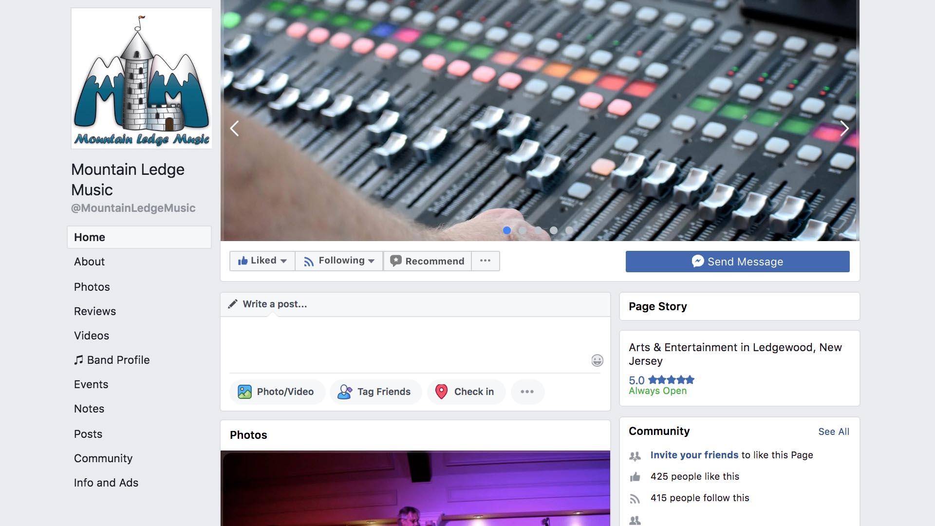 www.facebook.com/MountainLedgeMusic