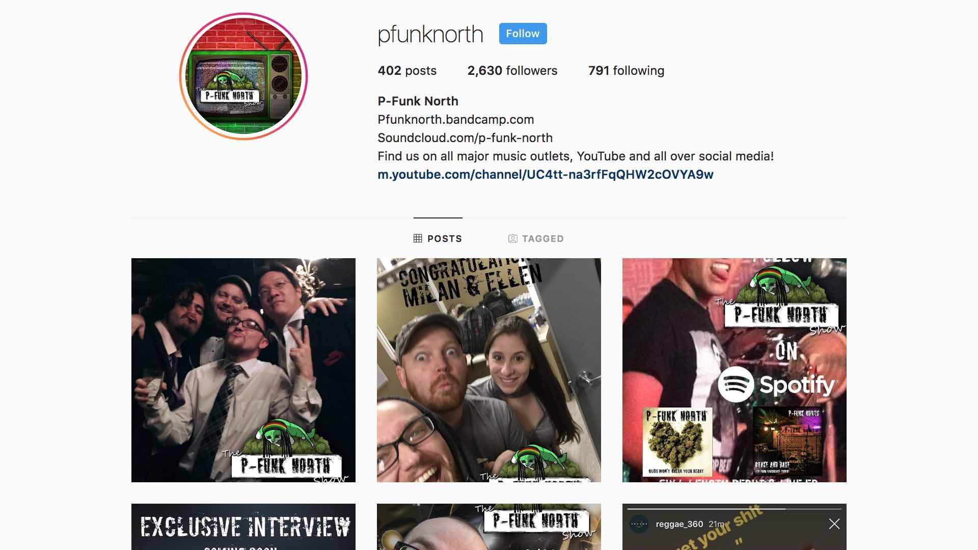 instagram.com/pfunknorth