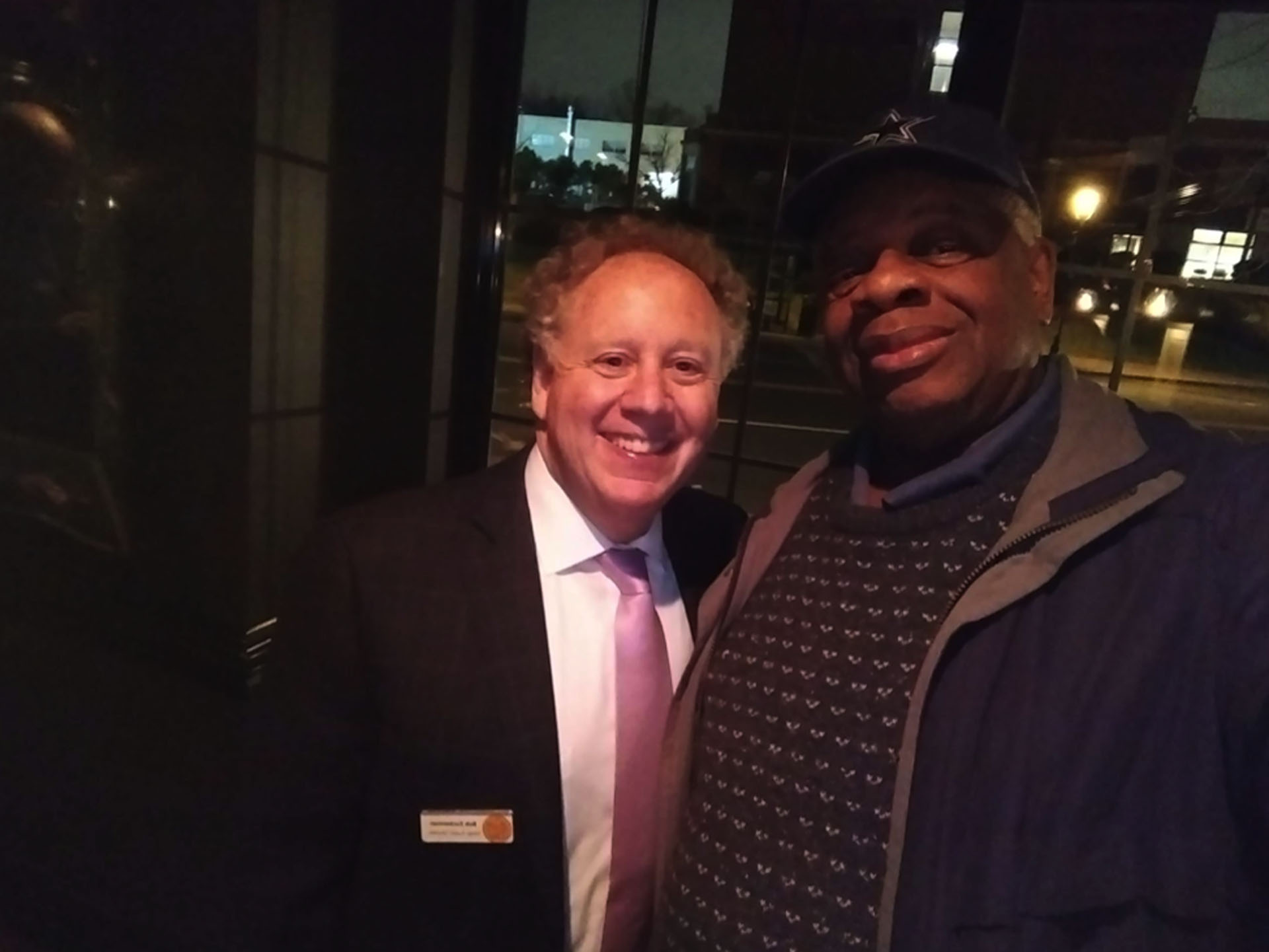Gregory Burrus with the Executive Director of SOVCA Bob Zuckerman. Downtown After Sundown is a program sponsored by the South Orange Village Center Alliance and the Town of South Orange.   https://www.sovillagecenter.org/