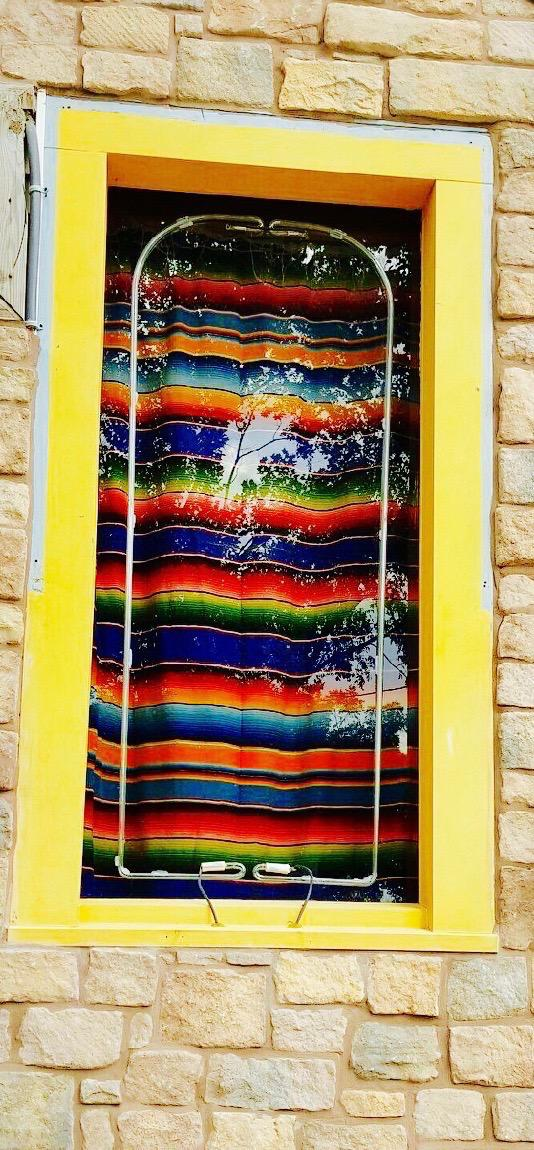 Serape Blanket Window Accent