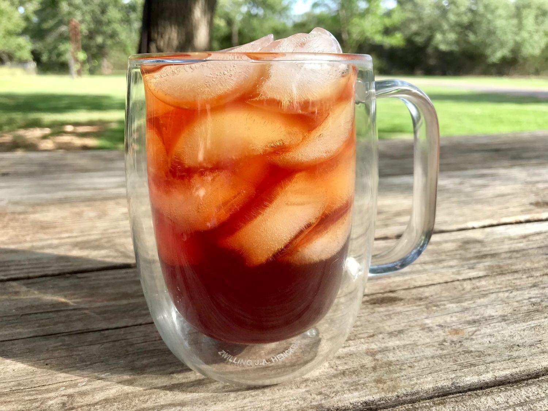 Fresh Malibu Mango ice tea in the ZWILLING J.A. Henckels 12 oz coffee mug