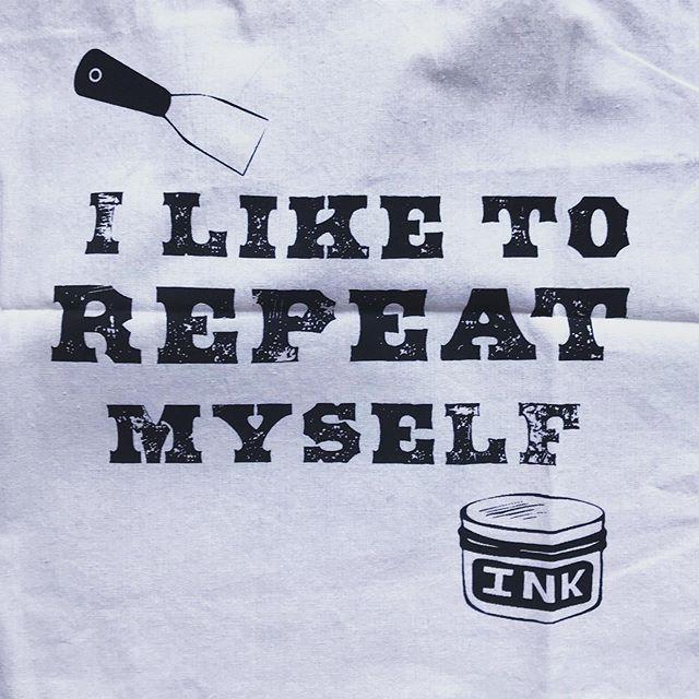 It's true.  Rad canvas bag from my anam cara.  #printmakerforlife