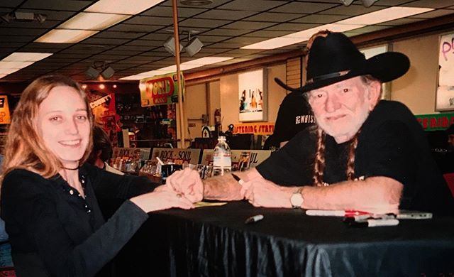 The day I meet Willie Nelson. SFCA #towerecords  #bestjobever