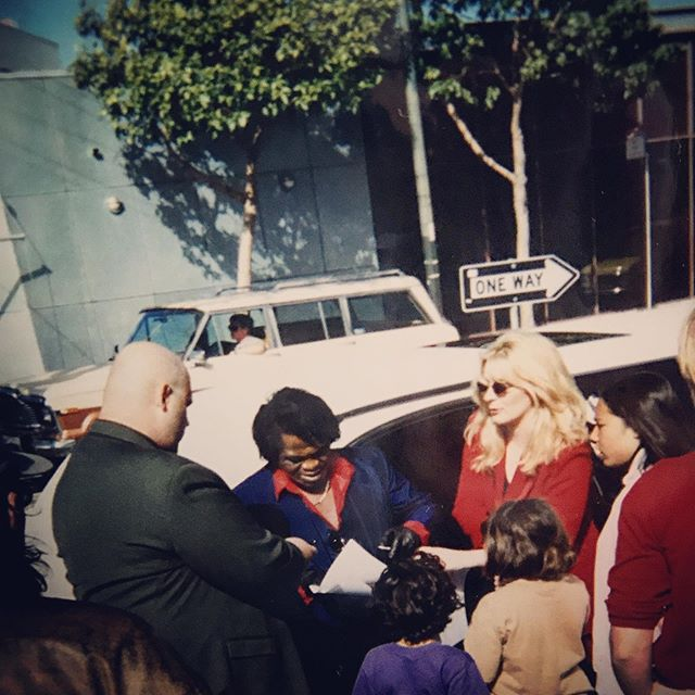 The day I meet James Brown. SFCA #towerrecords