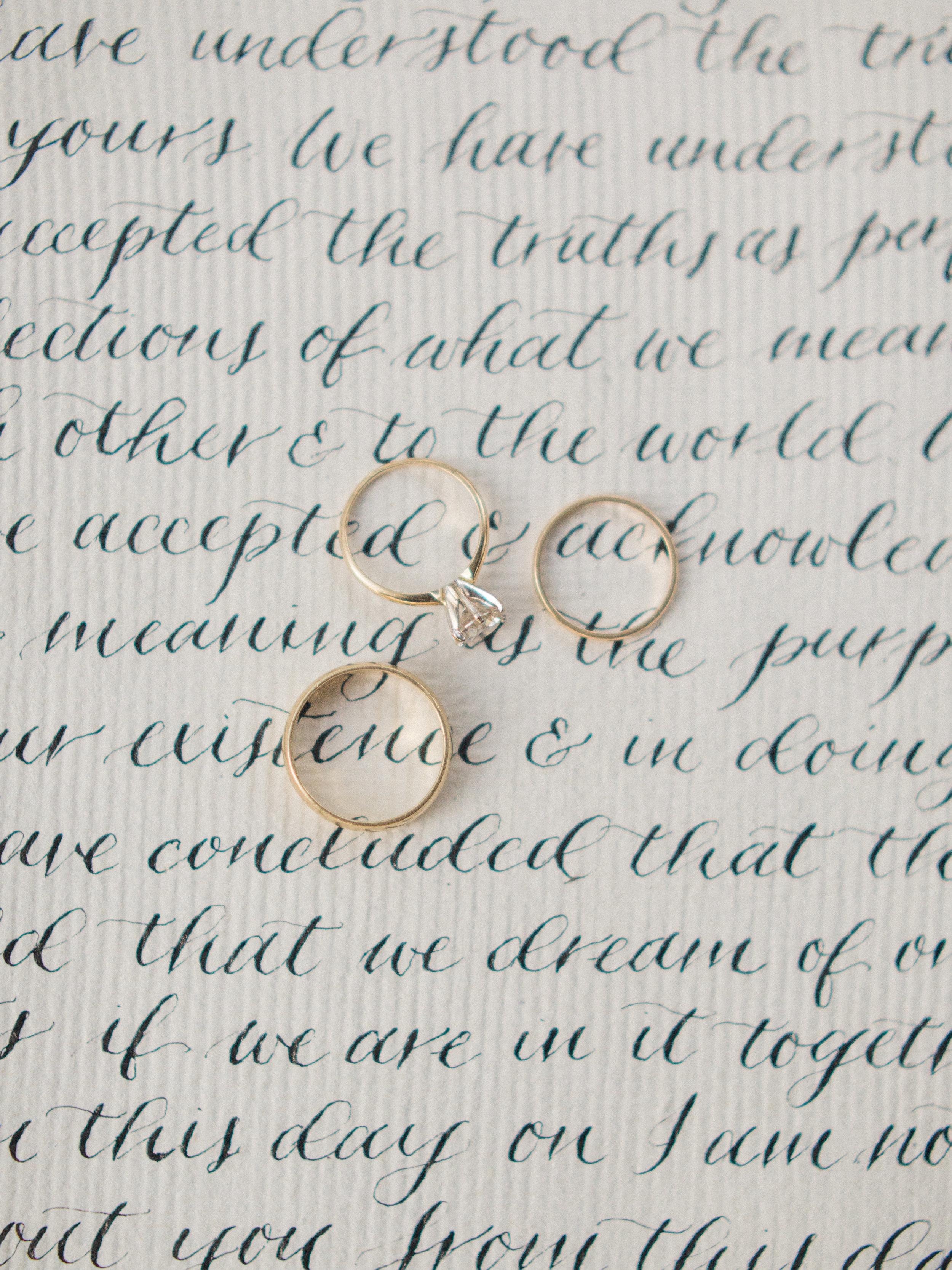 Calligraphy: Spurlé Gul Studio | Photography: Simply Sarah Photography