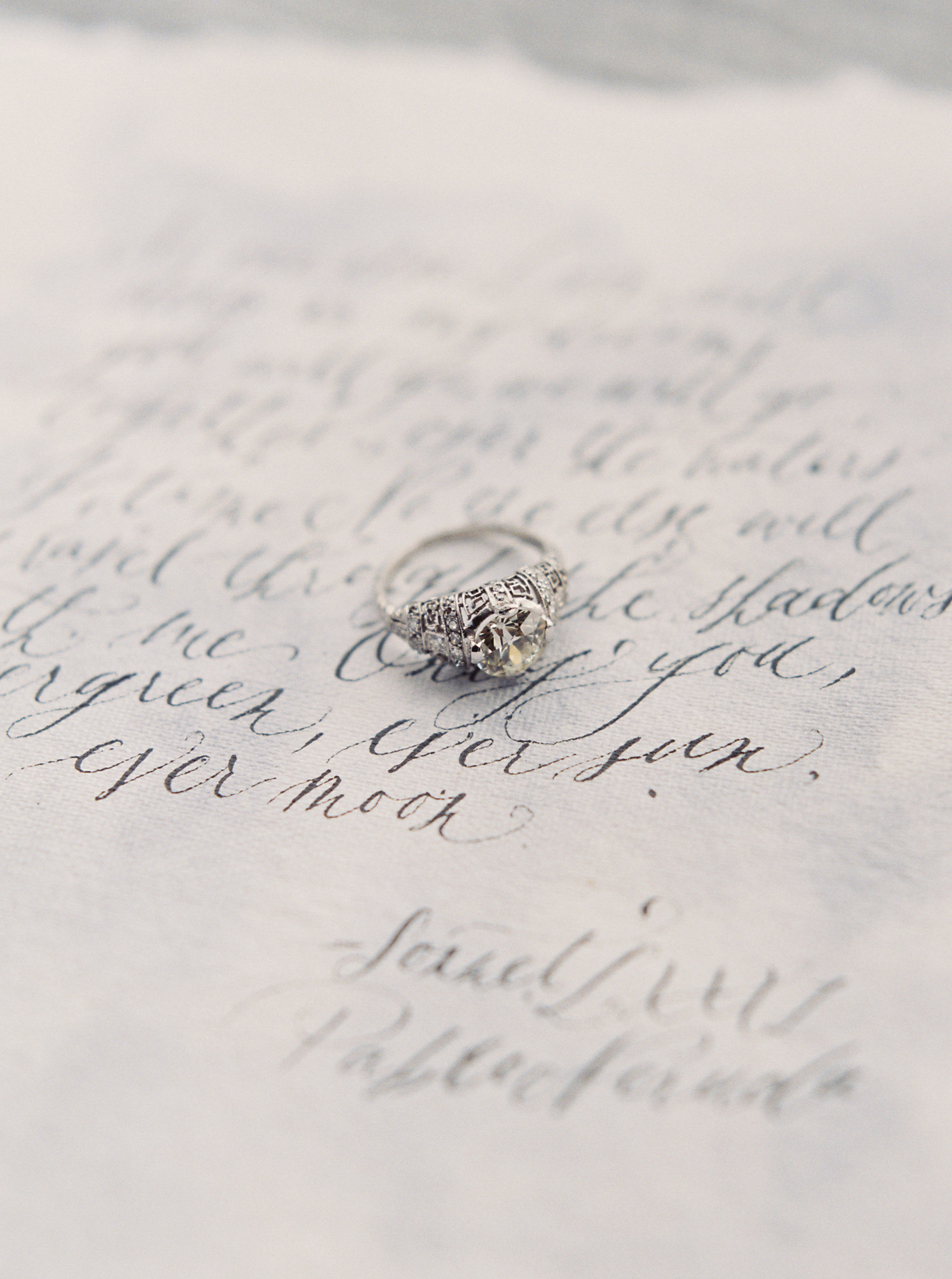 Paper Goods & Calligraphy: Spurlé Gul Studio | Photography: Simply Sarah Photography | Planning & Styling: Bash Bozeman