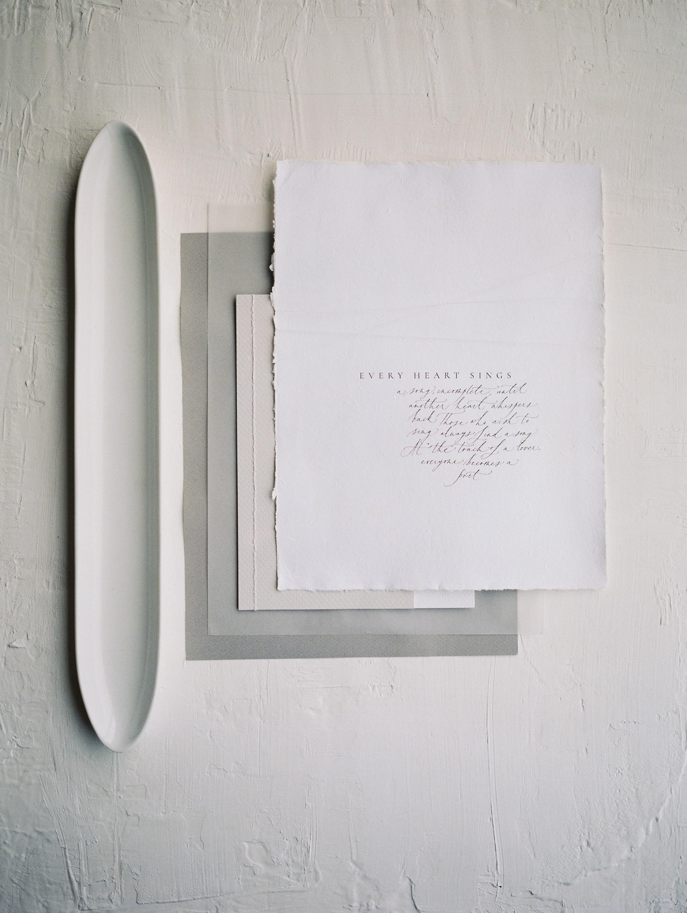 Photography: Jeremy Chou | Styling/Design: Natalie Papova | Calligraphy & Paper Goods: Spurlé Gul Studio