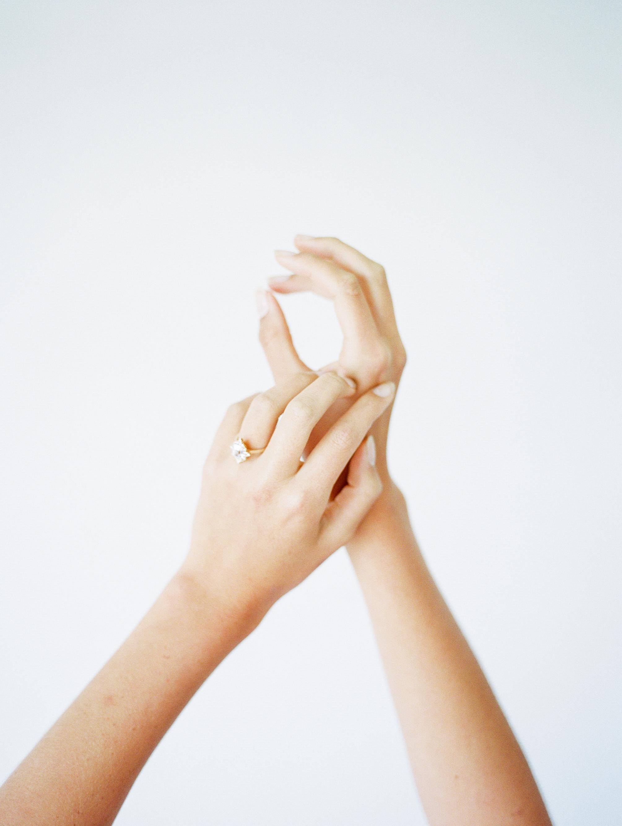 Photography: Jeremy Chou | Styling/Design: Natalie Papova | Calligraphy & Paper Goods: Spurlé Gul Studio | Ring: Susie Saltzman | Model: Devon Powers
