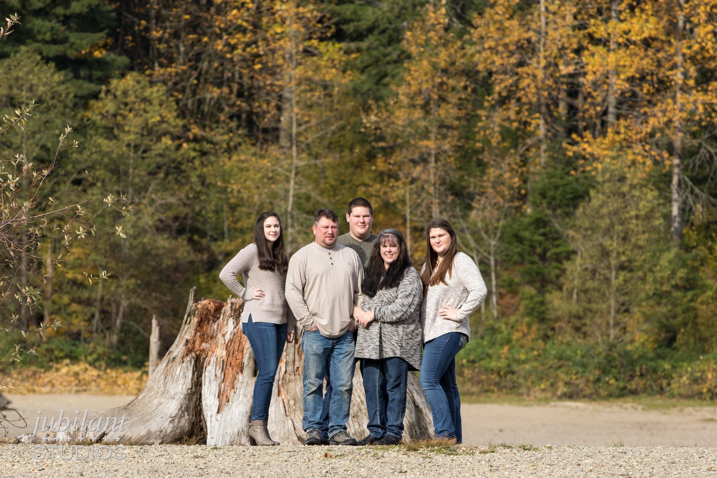 Rattlesnake Lake Fall Family Portrait