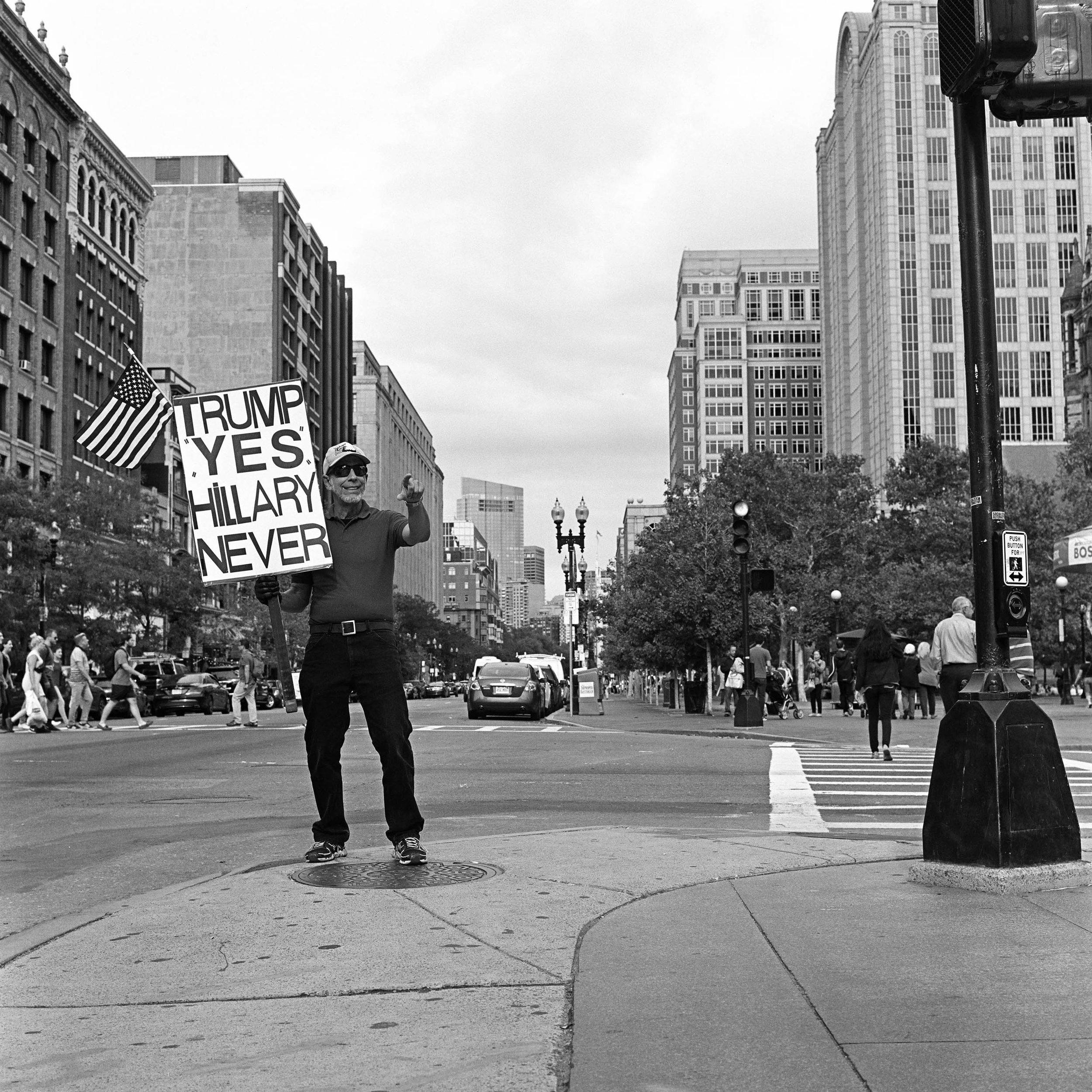 Trump Supporter in Boston