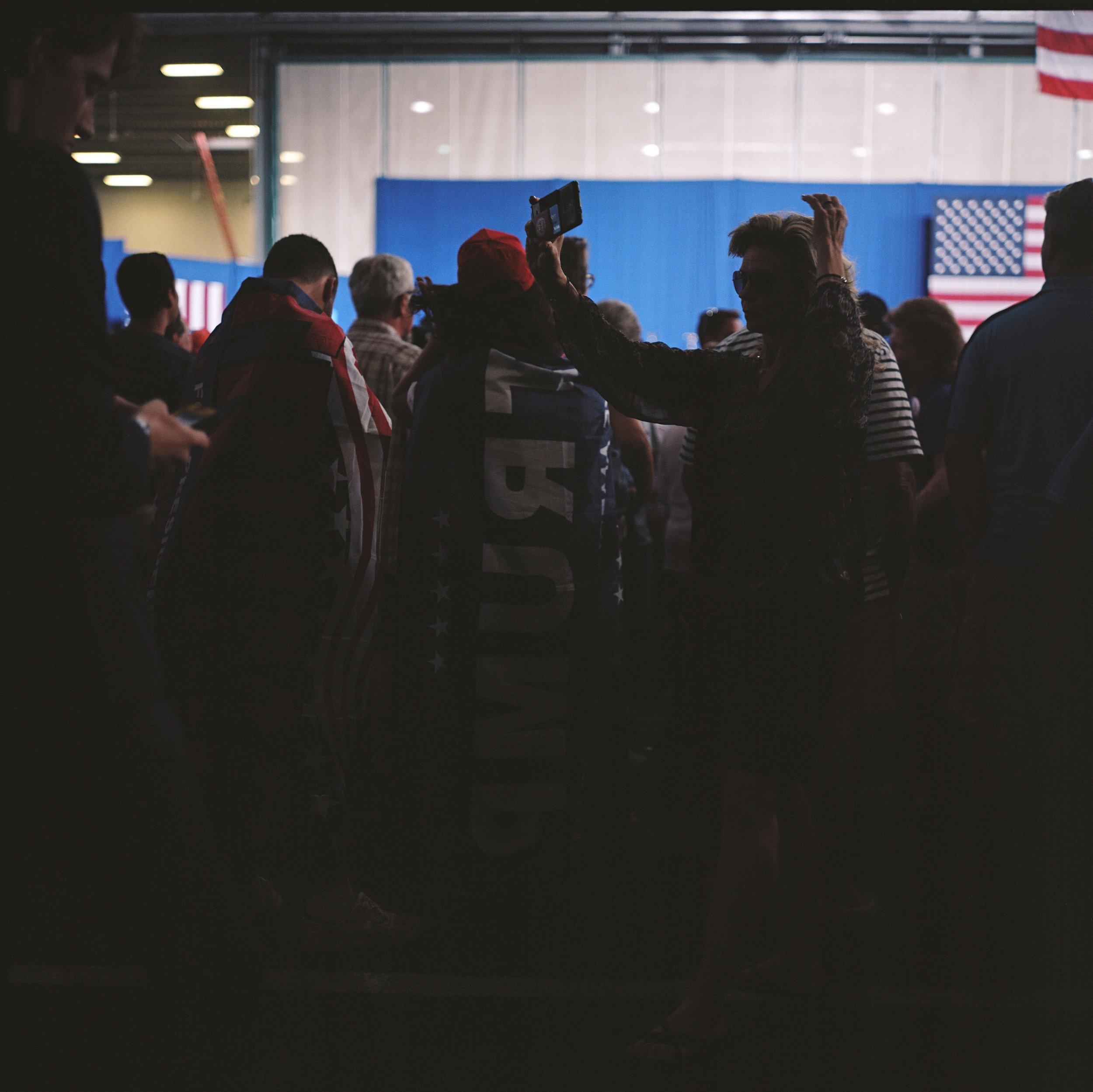 Trump Supporter at a Clinton Rally