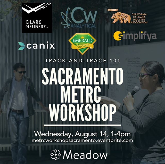 Interested in learning about the California Cannabis Track-and-trace (CCTT) system and how to equip your business to continue operating successfully and compliantly? Cdub will be joining forces with @meadow.sf, @getcanix, @emeraldgrown, @newgreenfrontier, @simplifya and @ccia_team to bring the new rules and regs to the Sacramento area August14th. Tickets can be purchased by visiting the eventbrite site above. Let's do this 👊💚!! / / / / / / / / / / / #trackandtrace#cannabisindustry#compliantcannabis#knowyourmedicine#workshop#training#cannabis#calibud#cannabissales#legalweed#legalweedlife#cleancannabis#cannabiscommunity#thclife#knowyourfarmer#supportyourfarmer#plantmedicine#metrc#cwanalytical#letsdothis#wereinthistogether#cannabismatters#cannabisworkshop#workshop#cannabisfarmers#supplychain