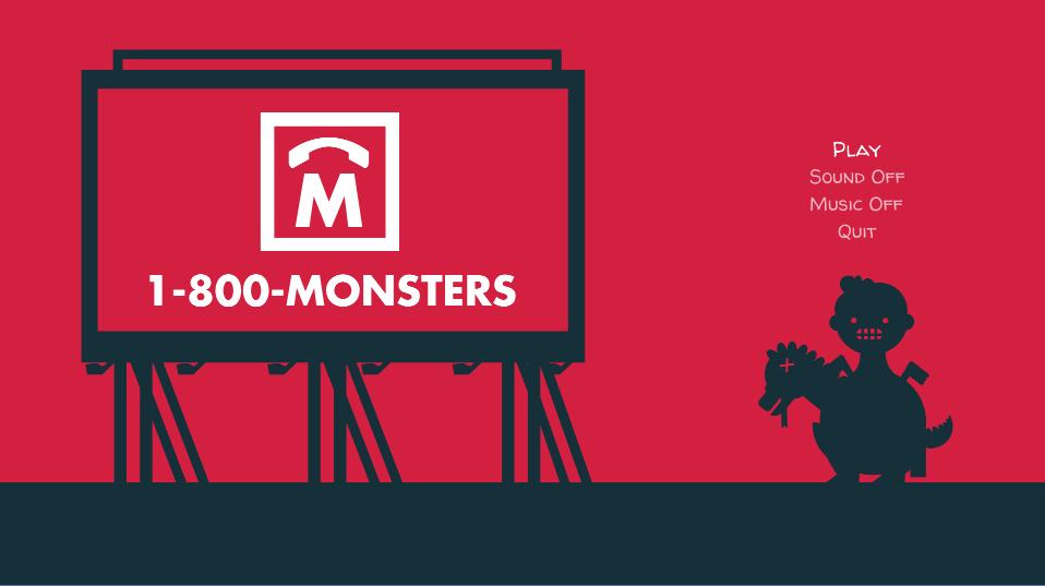 1-800-Monsters Title Menu