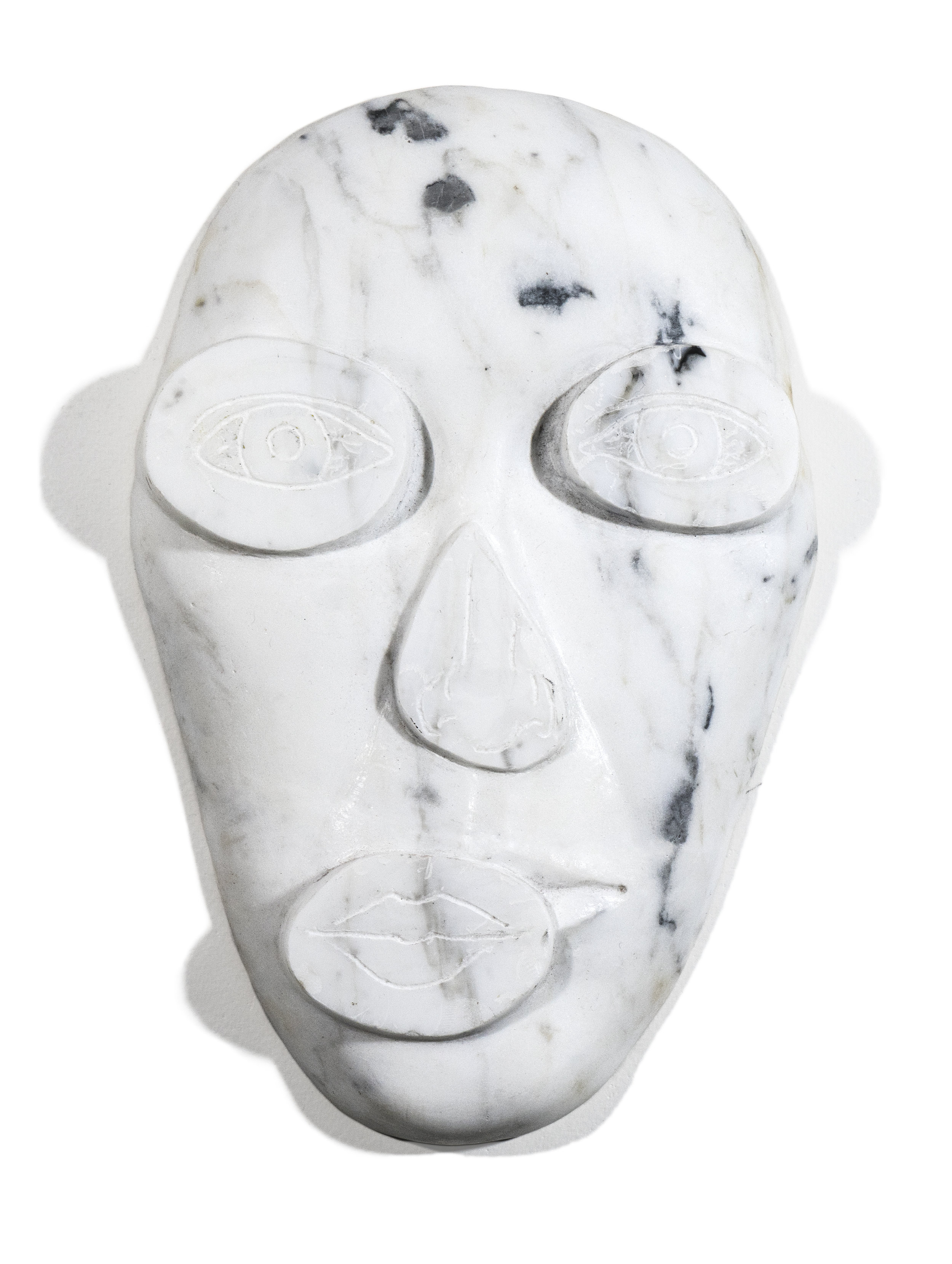 Face Up 2, 2017, Marble, 11 x 7 x 1 1/2 inches