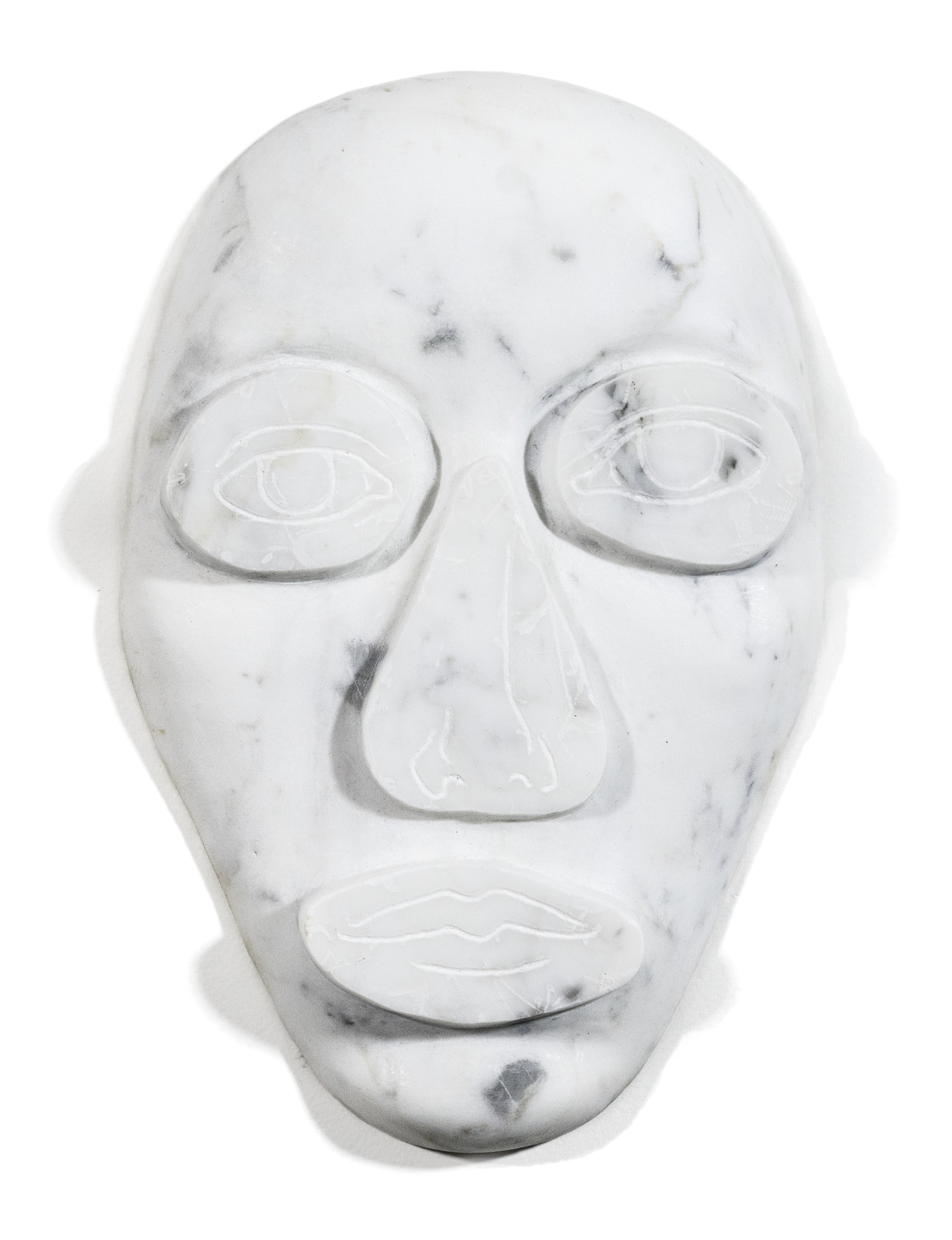 Face Up 1, 2017 Marble, 11 1/2 x 7 1/4 x 1 1/2 inches