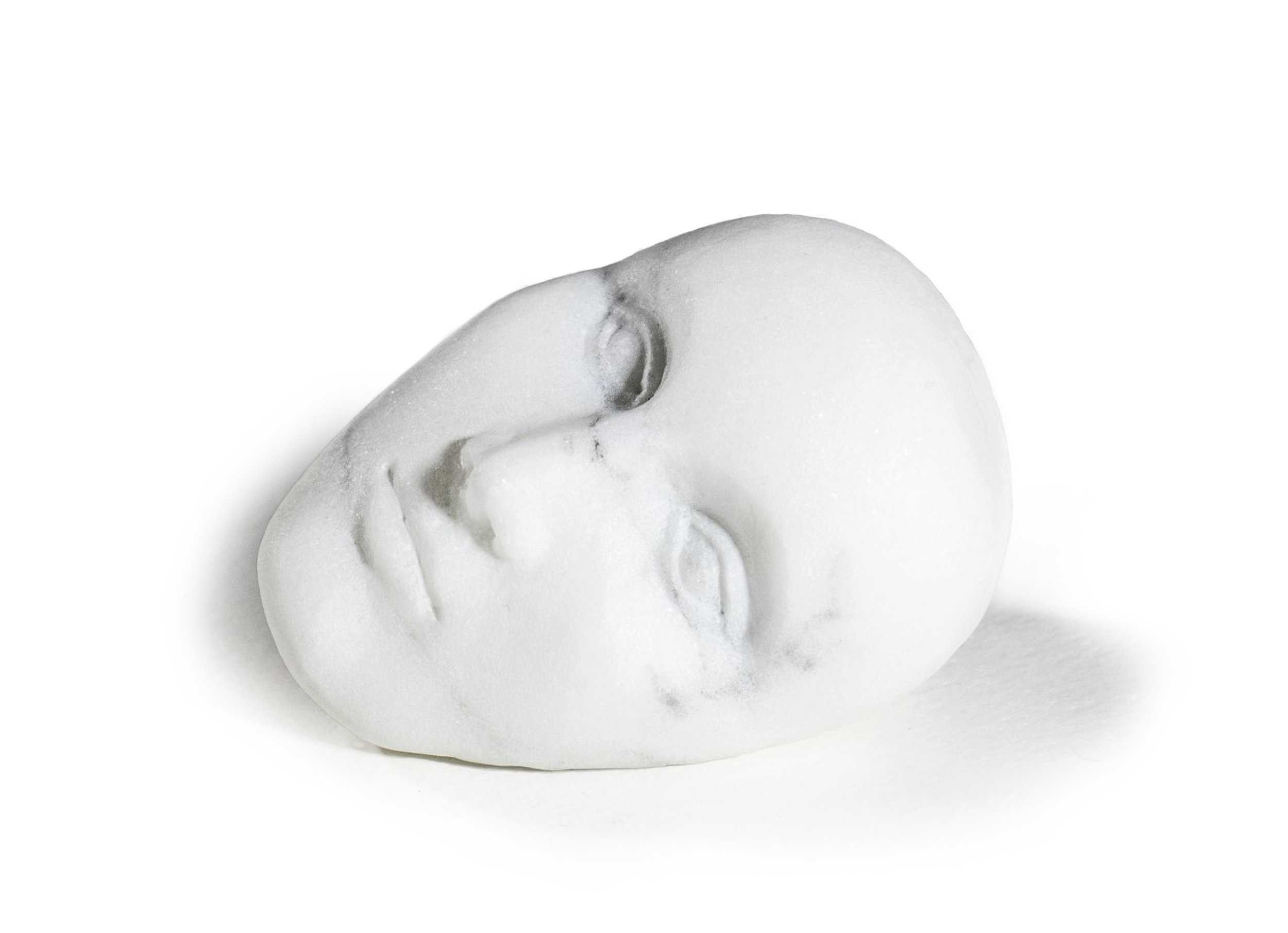 A Face, 2017, marble, 4 x 3 x 3 inches