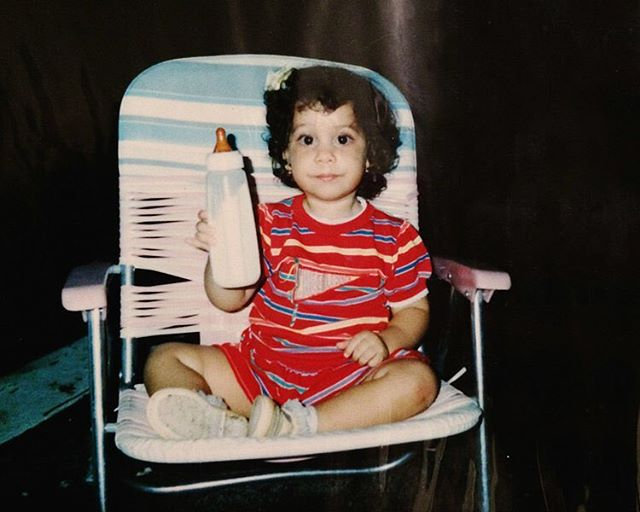 Somehow I had already figured out how to pose when holding a drink #pinkiesup #tbt