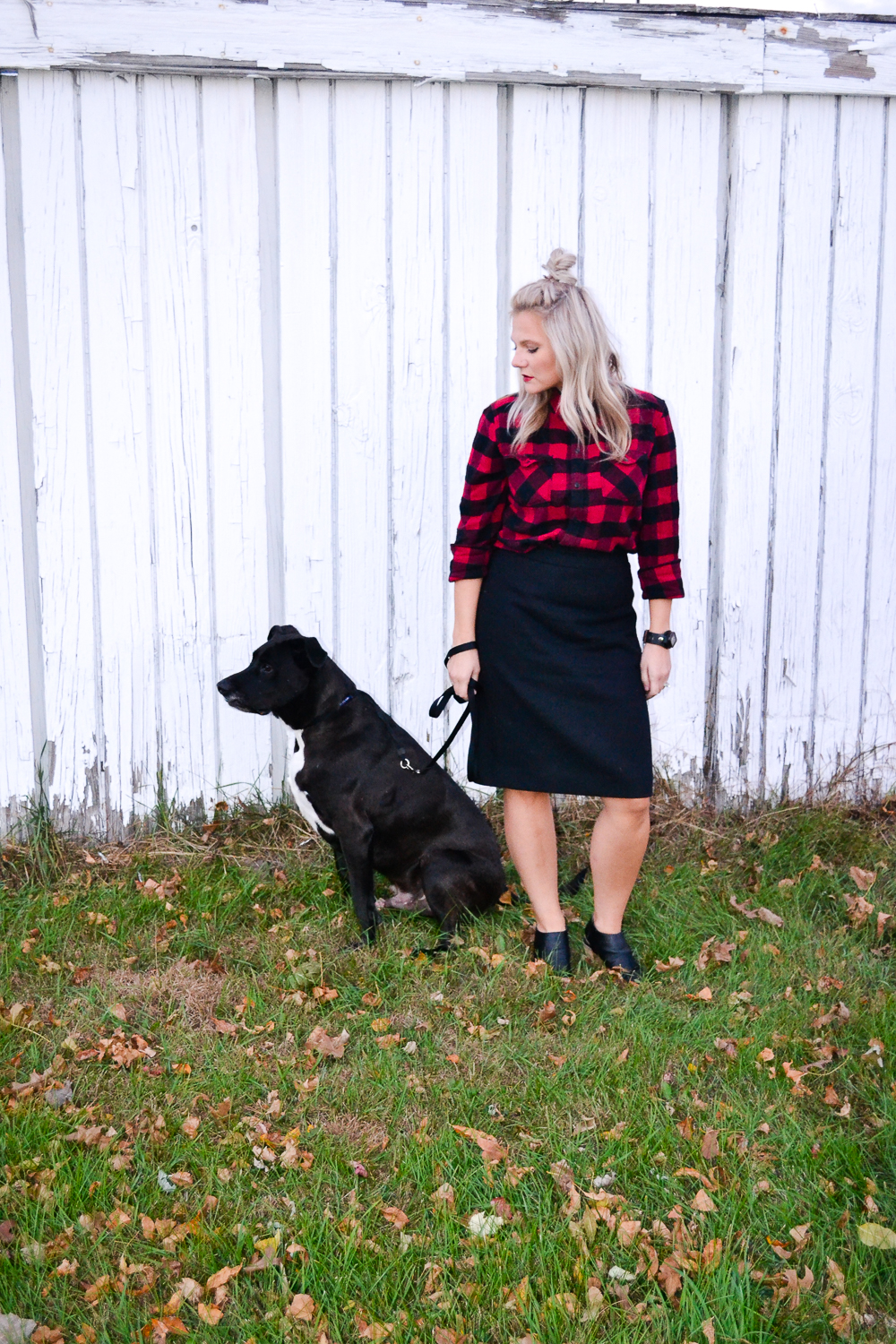 Fashion Ideas_Buffalo Plaid_Black Pencil Skirt_Edgy Chic Style.jpg