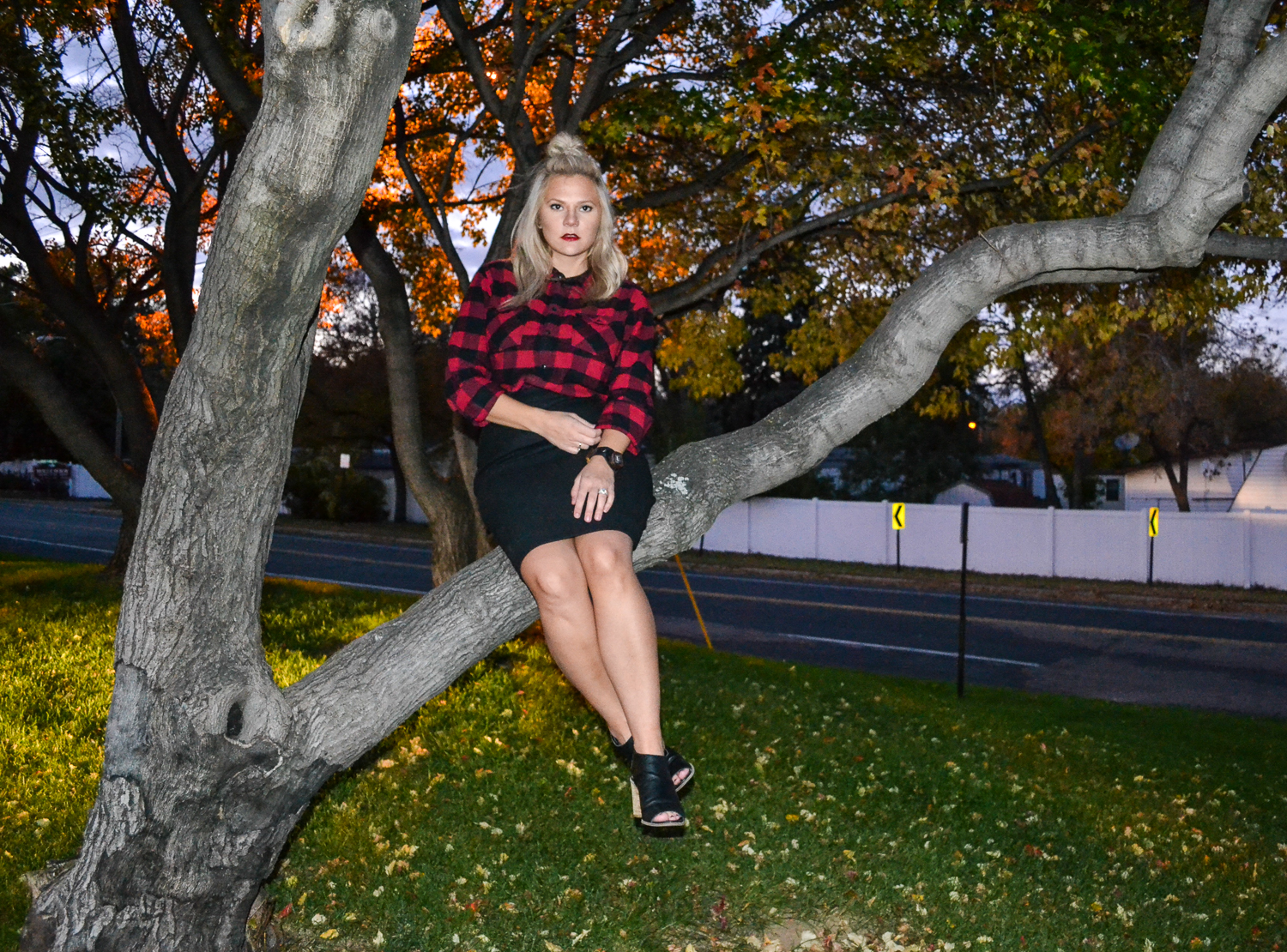 Fashion Styles_Fall Fashion_Black Chunky Heals_Red and Black Plaid.jpg