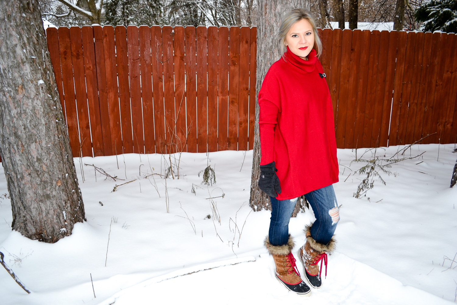 Outfits_Red Sweater + Faux Fur Boots.jpg