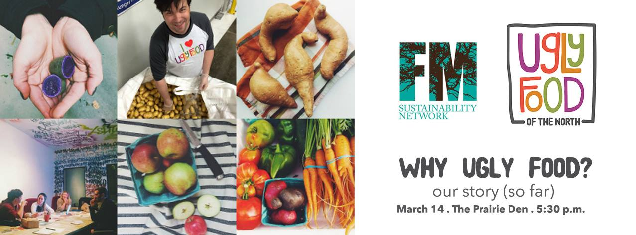 """March 2016 - Ugly Food of the North presented """"Our Story (so far)"""" at the FM Sustainability Network Meet-up at the Prairie Den co-working place in downtown Fargo."""