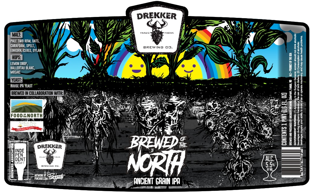 """Brewed of the North� can design:    Punchgut    [click to enlarge]"