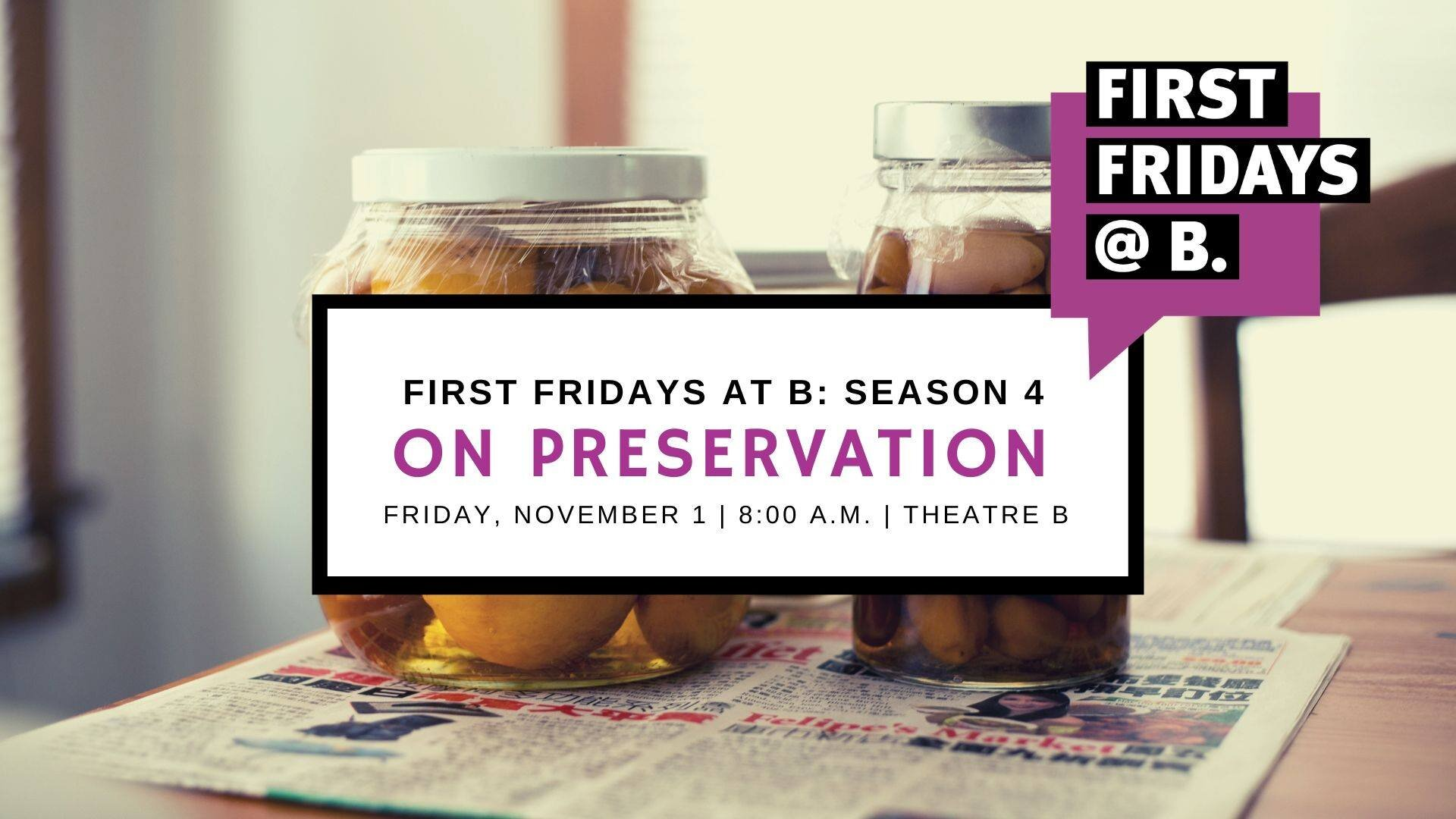 November 2019  -   The November edition of First Fridays focused on food preservation and featured area experts Markus Krueger (Historical and Cultural Society of Clay County), Rita Ussatis (NDSU Extension - Cass County), and Kevin Struxness (Hairy Hippie Pickling Company).   [Watch video]