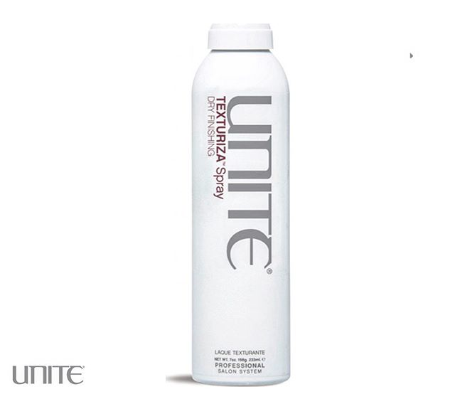 TEXTURIZA SPRAY -  Probably one of the BEST products I use on my clients every day. Doesn't matter if your hair is thick or thin, this texture spray works to give you that day 2, textured feel for body and movement. Great for backcombing on thin hair or breaking up flatness for texture. @unite_hair #hairproduct #styling