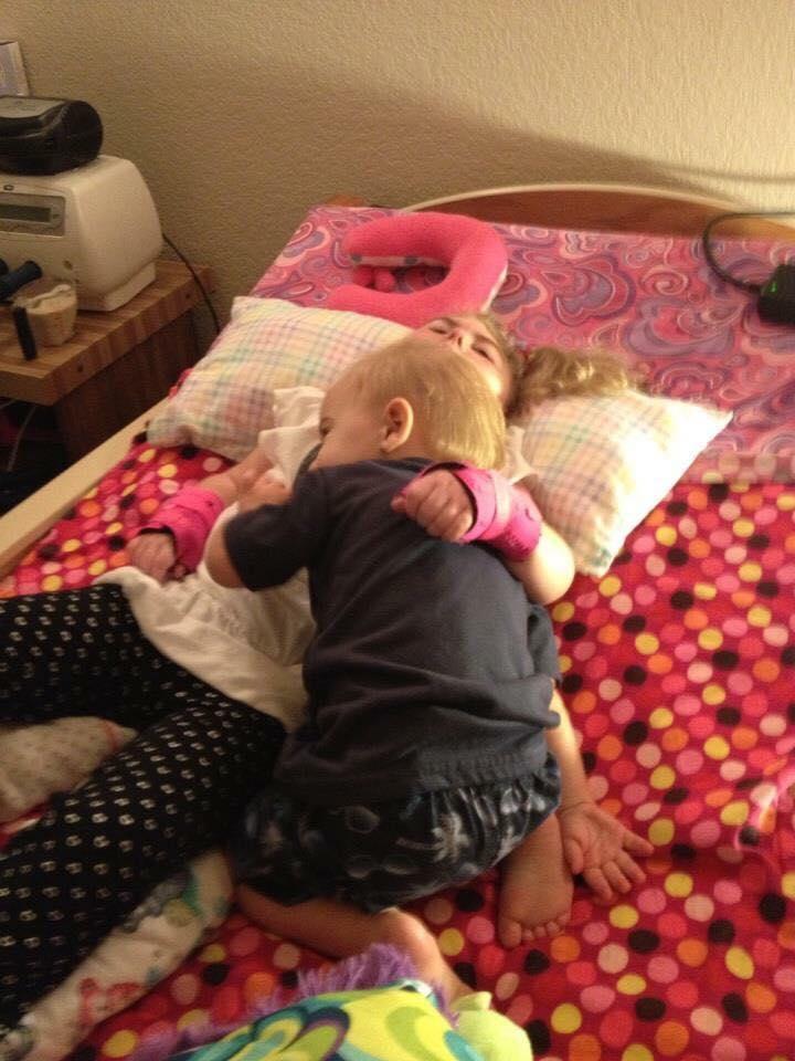 Sibling love… Karli and Kasey.