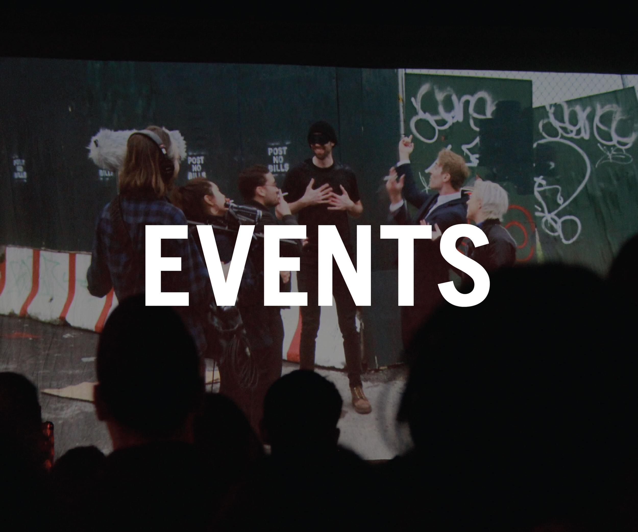 We host screenings to celebrate our members' work. Learn more here.