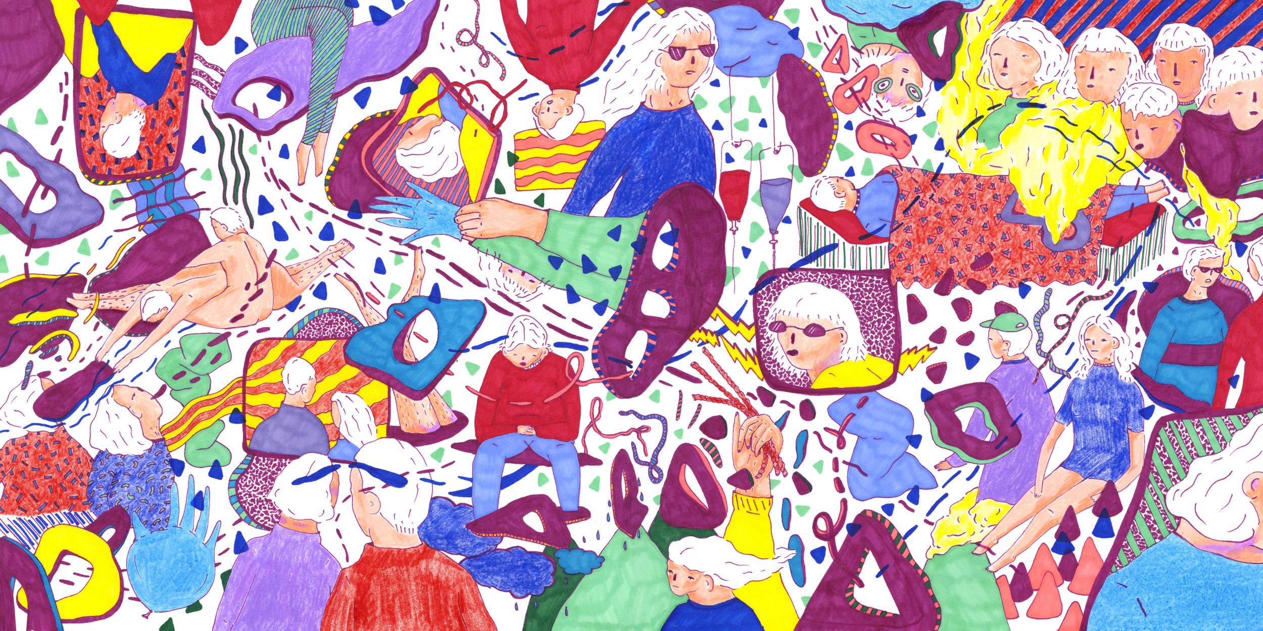 "Sightlines ""North"" LP full (front x back) album art. (2016)"