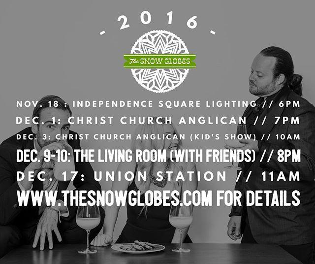 The Snow Globes 2016 Calendar has arrived! #christmas #thesnowglobesmusic #snowedin #bethere