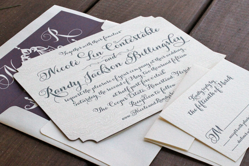 woodsy-nature-custom-letterpress-wedding-invitations